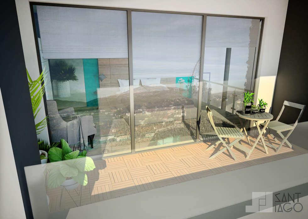 Terraza : Terrazas de estilo  por SANT1AGO arquitectura y diseño