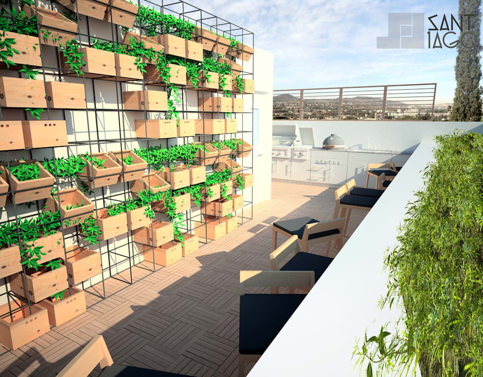 Terraza: Terrazas de estilo  por SANT1AGO arquitectura y diseño