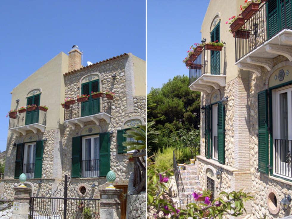 Facciata: Case In Stile In Stile Mediterraneo Di Studio Di Architettura  Parodo
