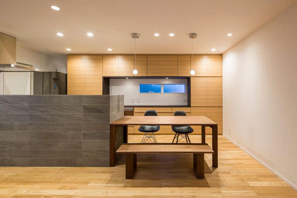 modern Dining room by 株式会社seki.design