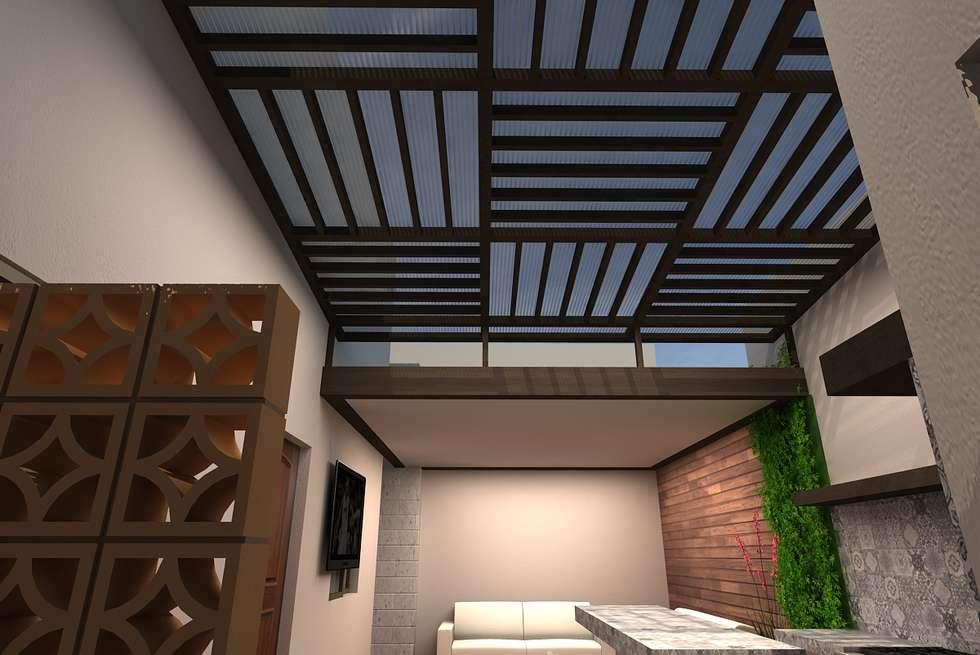 Patio RS: Casas de estilo ecléctico por Arstudio
