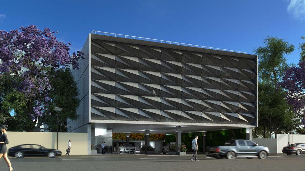 Televisa Anexo San Ángel : Edificios de Oficinas de estilo  por Eskema