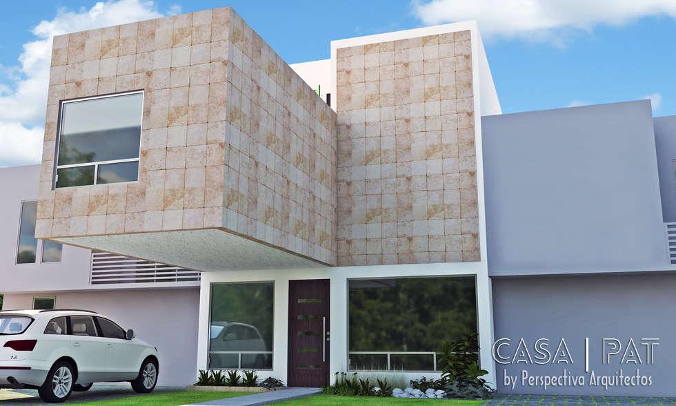 Casa PAT: Casas de estilo moderno por Perspectiva Arquitectos México