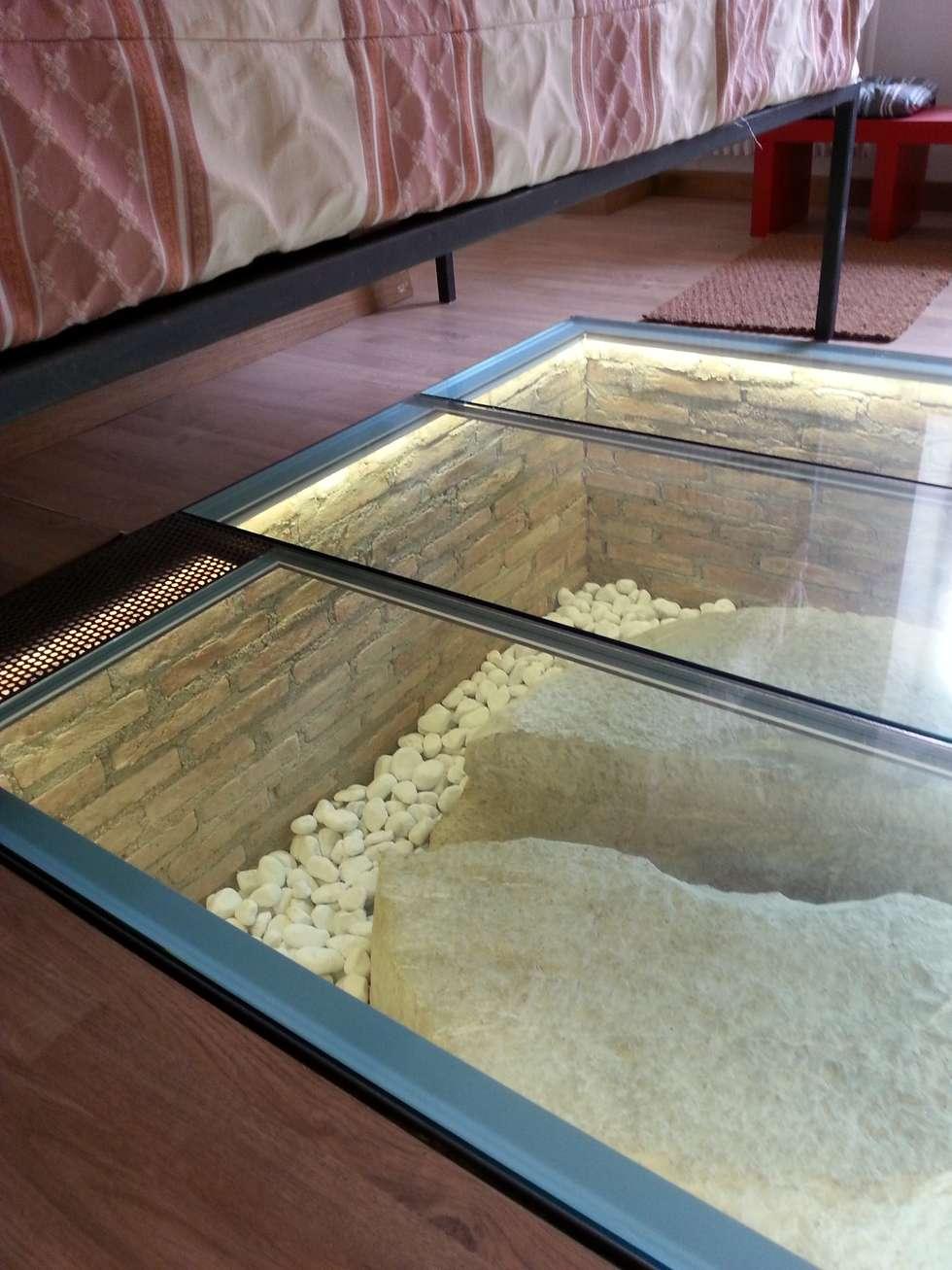 Inserto a pavimento: Pareti in stile  di Andrea Magnoni Architetto