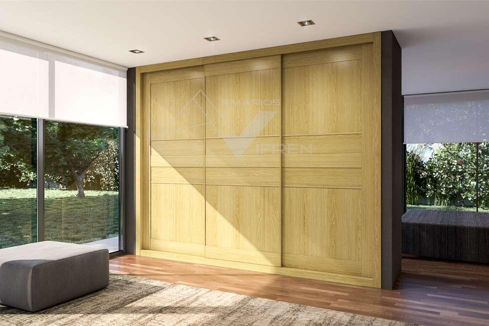 Armarios empotrados puertas puerta colgante gama selene - Puertas plegables armarios empotrados ...