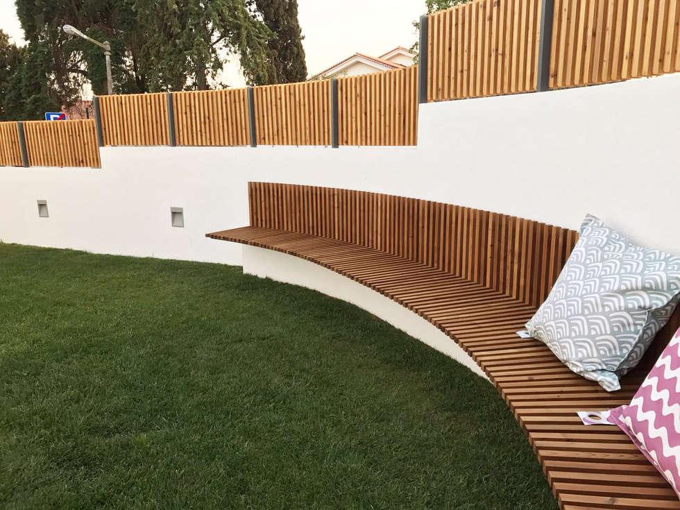Fotos de decora o design de interiores e remodela es - Bancos para exterior ...