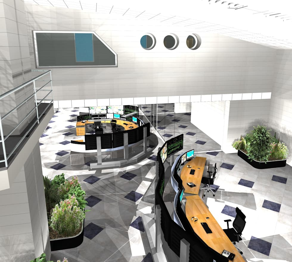 PCO Milano Greco: Sala multimediale in stile  di Studio Associato di architettura MBiM