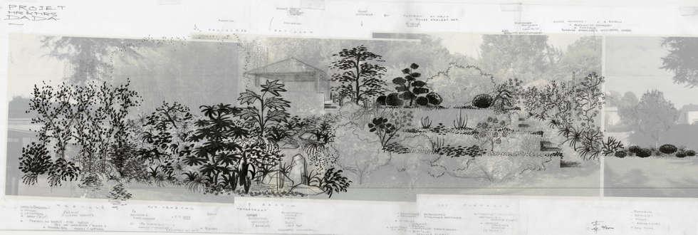 Le Jardin de Mrs & Mr D., Meudon: Jardin de style de style Moderne par F'CHASTA CRÉATIONS