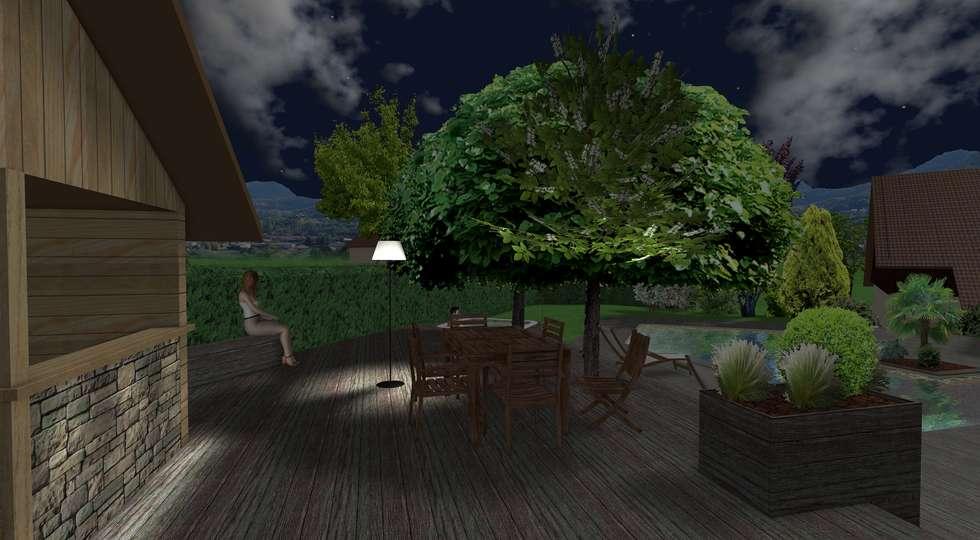 Usage nosturne: Jardin de style de style Moderne par Anthemis Bureau d'Etude Paysage