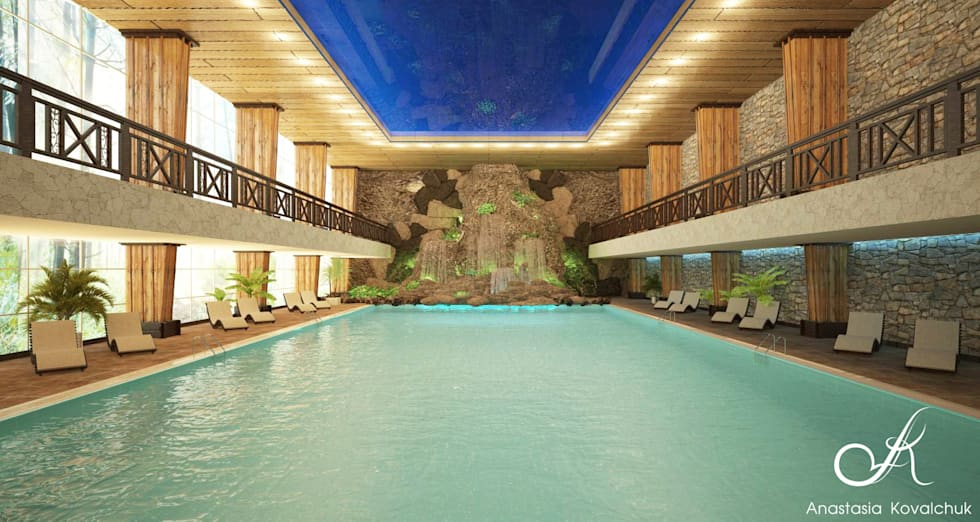 Tropical pool photos: the pool in spa   homify