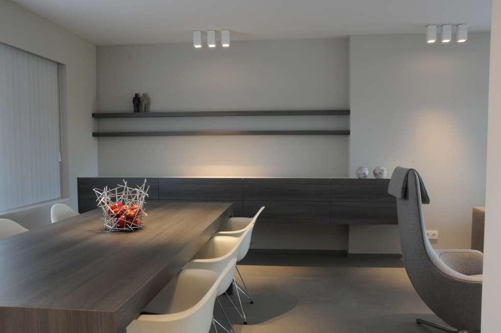 Woning verbouwing inrichting moderne woonkamer door idee m