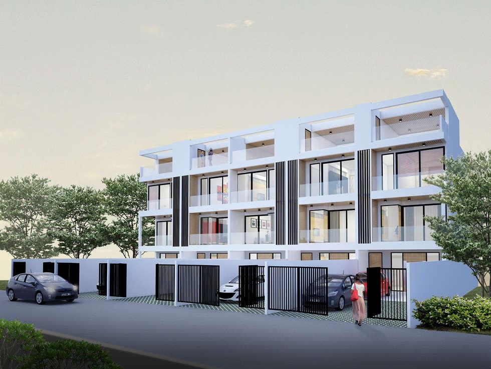 Town Home แบรริ่ง 13:  บ้านและที่อยู่อาศัย by No.13 Design