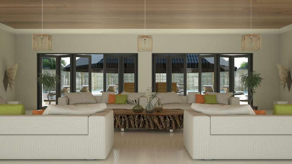 Larger Social Living Room: modern Living room by Linken Designs