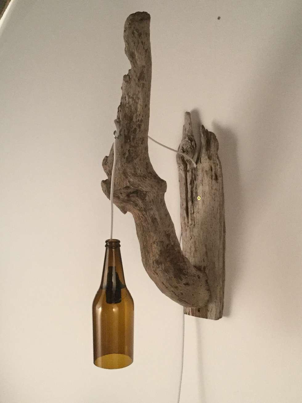 Wandlampe Aus Treibholz Und Glasflasche: Mediterraner Flur, Diele U0026  Treppenhaus Von Meister Lampe