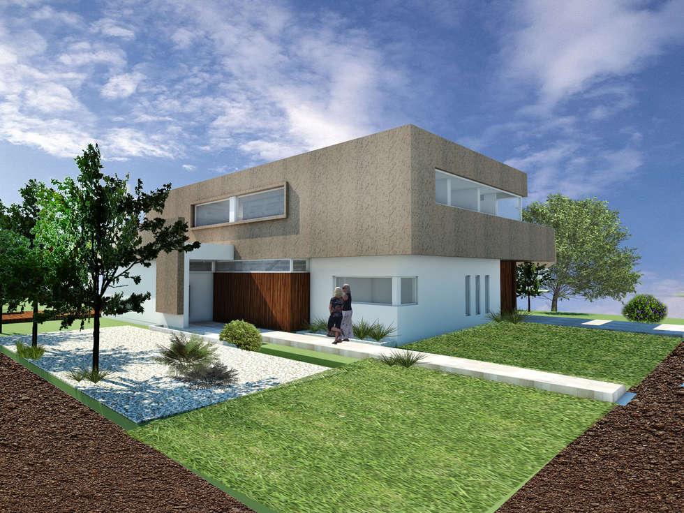 CASA VD: Casas de estilo moderno por Arquitecta Obadilla