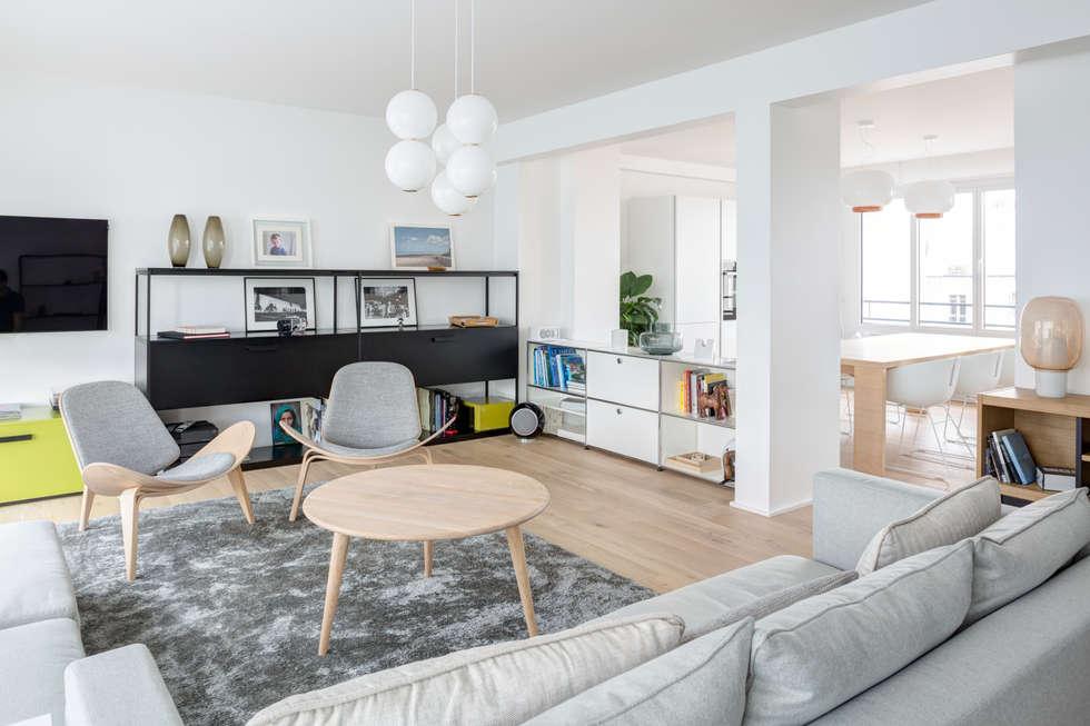 Salon: Salon de style de style Scandinave par Mon Concept Habitation