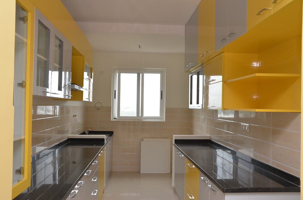 Parallel Modular Kitchen Designs In Bangalore: Asian Kitchen By Scale Inch  Pvt. Ltd.