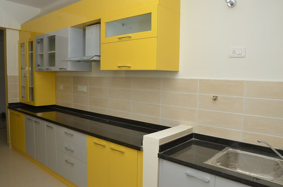 Parallel Modular Kitchen Designs India: Asian Kitchen By Scale Inch Pvt.  Ltd.