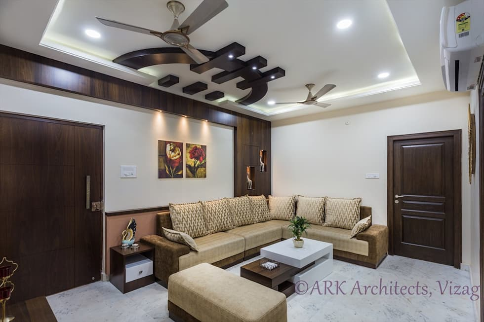 Small flat cosy interiors modern living room by ark - Small bedroom interior design ...