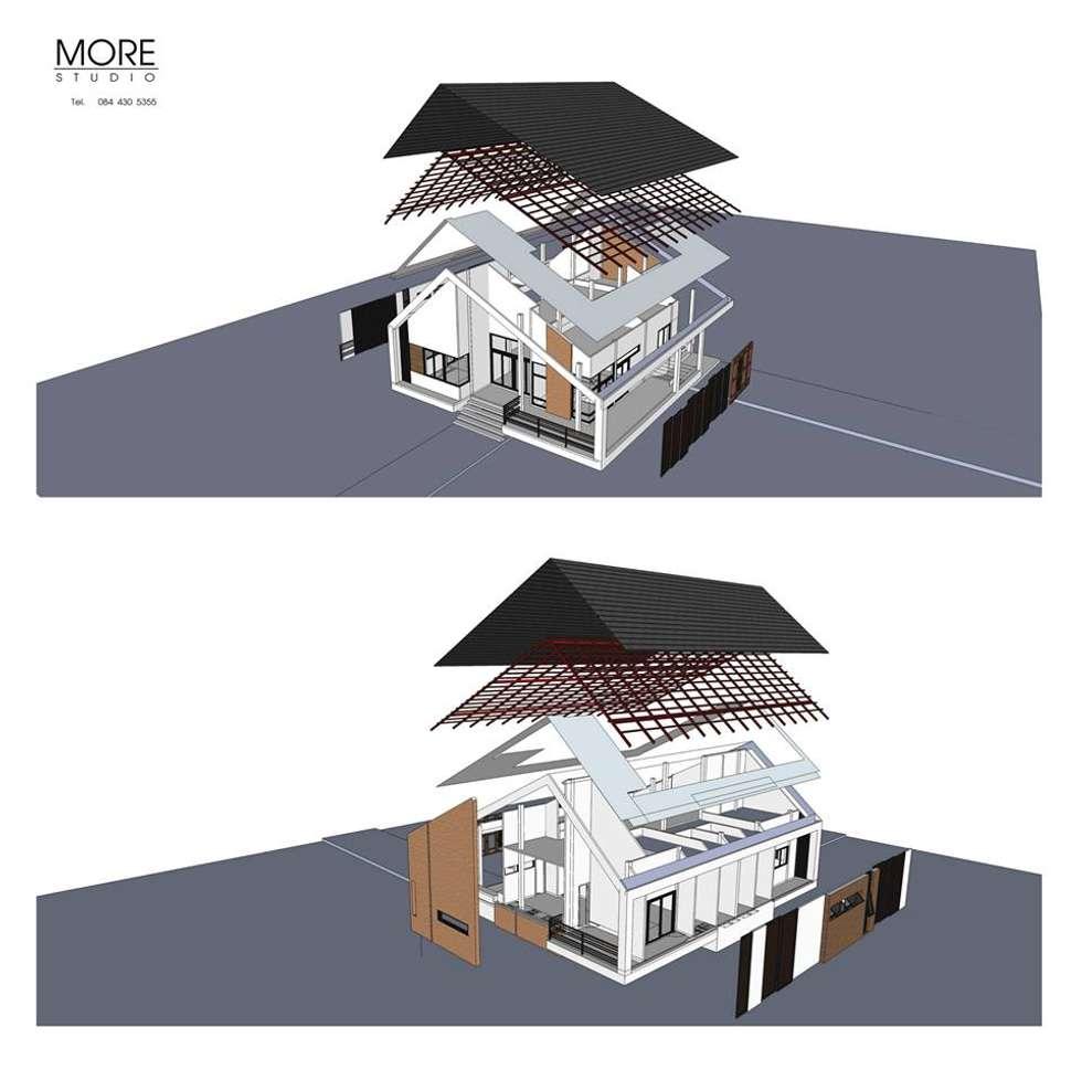 P-House:  บ้านและที่อยู่อาศัย by Morestudio