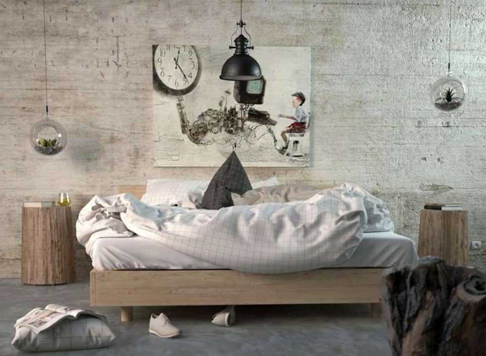 modern Bedroom by SolidART Digital Architecture