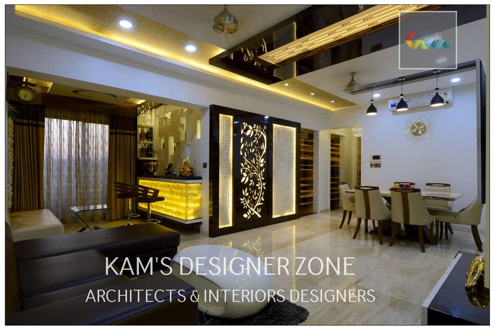 Home interior design for manish thakkar walls by kams designer zone