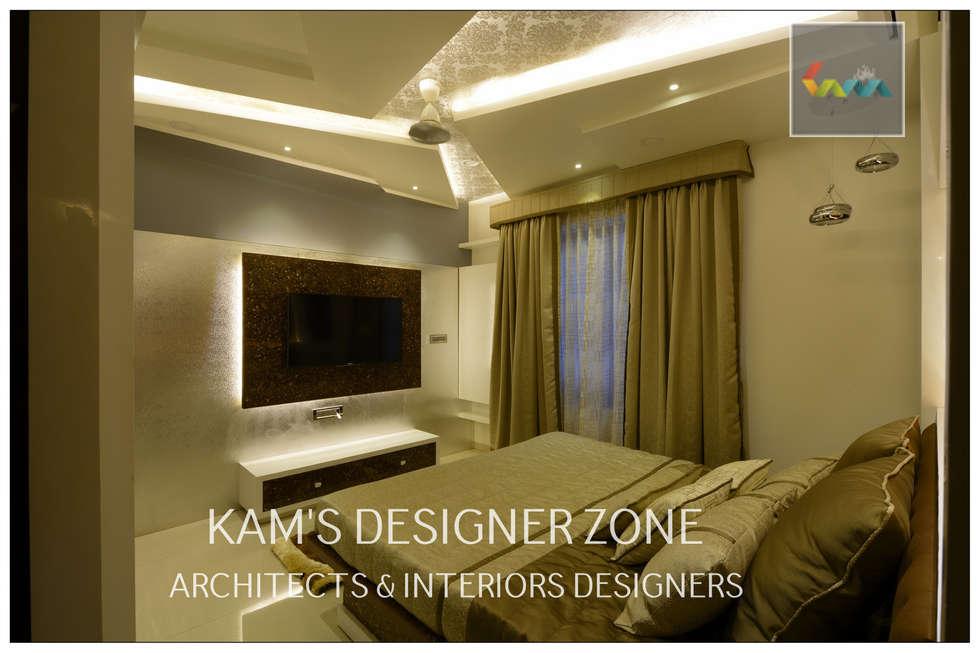 Home interior design for manish thakkar modern bedroom by kams designer zone