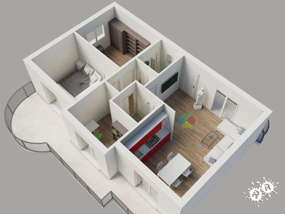 Idee arredamento casa interior design homify for Planimetrie in stile acadiano