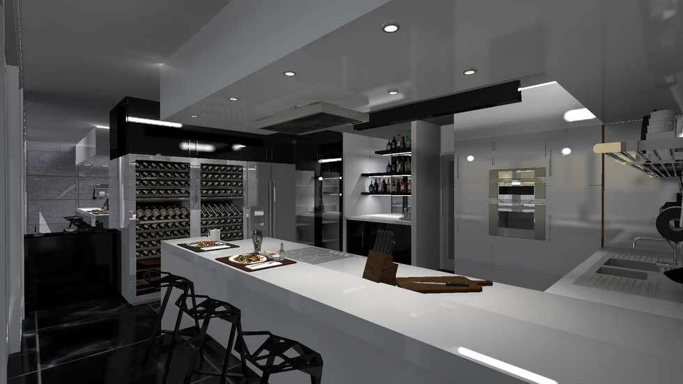 cocina minimalista cocinas de estilo minimalista por diseo de locales - Cocina Minimalista