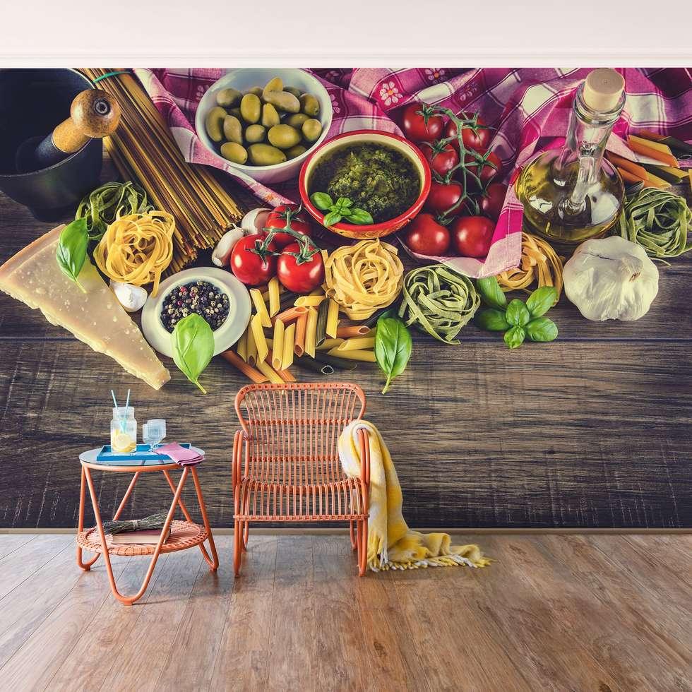 Bilderwelten Vliestapete Italienische Küche: Moderne Küche Von Bilderwelten