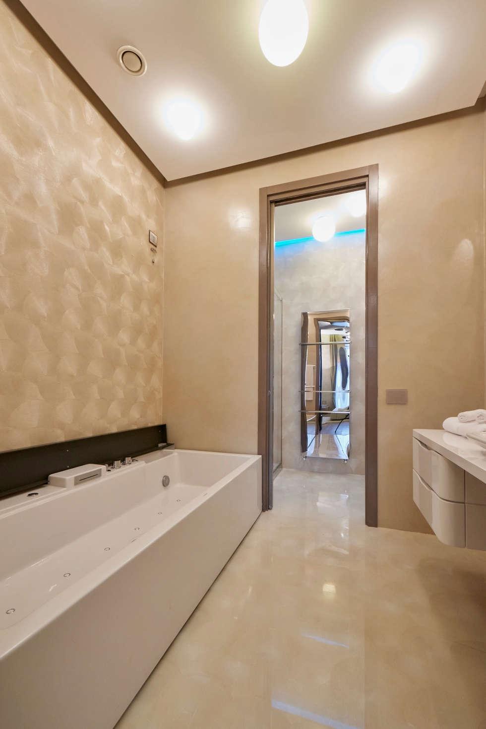 Progetti di bagni moderni idee per arredare un bagno moderno con elementi di design with - Posa mosaico bagno ...