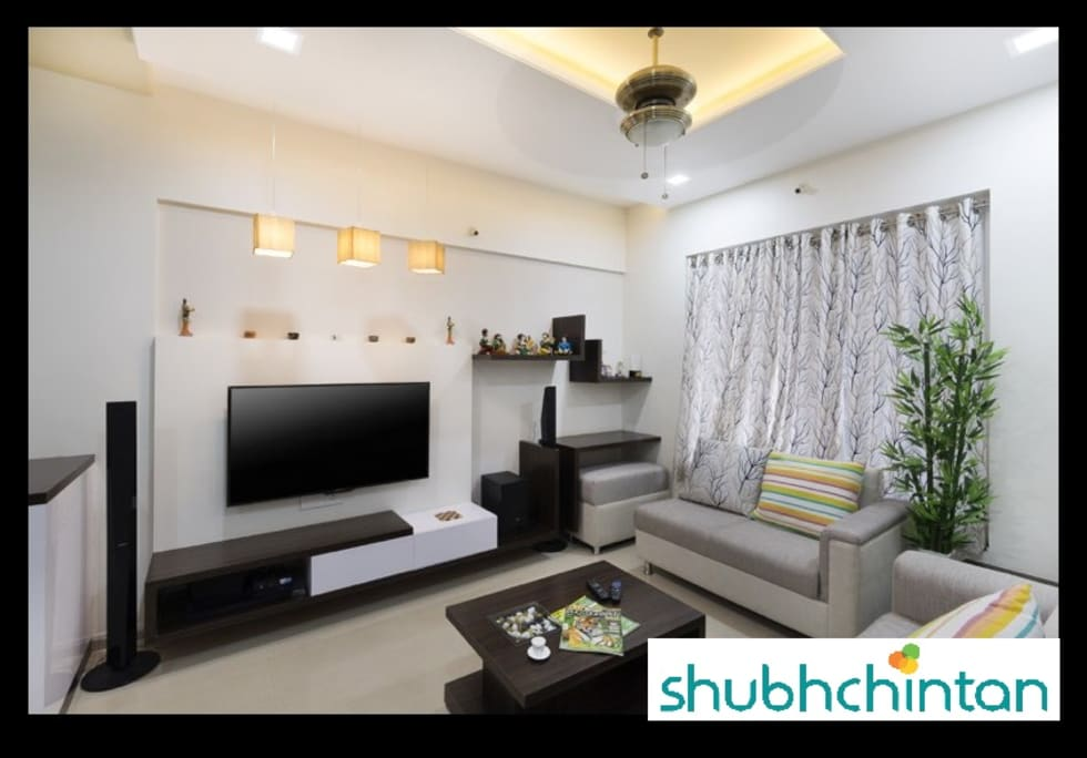 2bhk flat modern living room by shubhchintan - Interior Design For 2bhk Flat