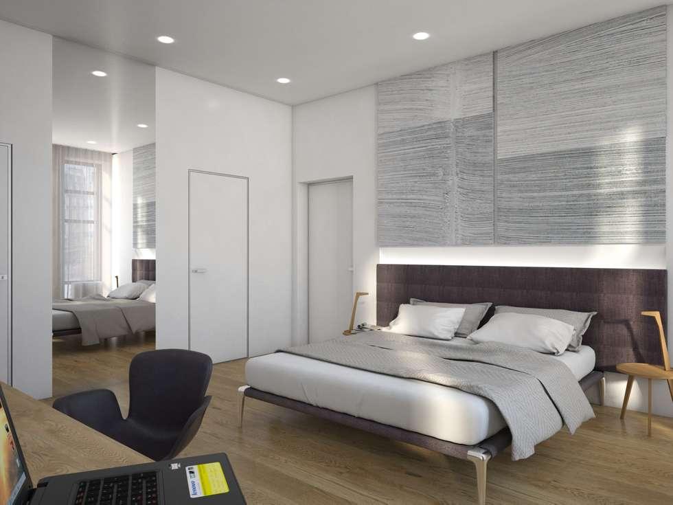 Minimalistische schlafzimmer von background архитектурная студия ...