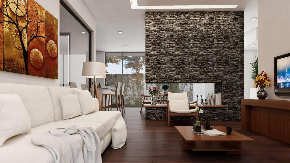 Interiores- sala- comedor: salas de estilo moderno por 3h ...