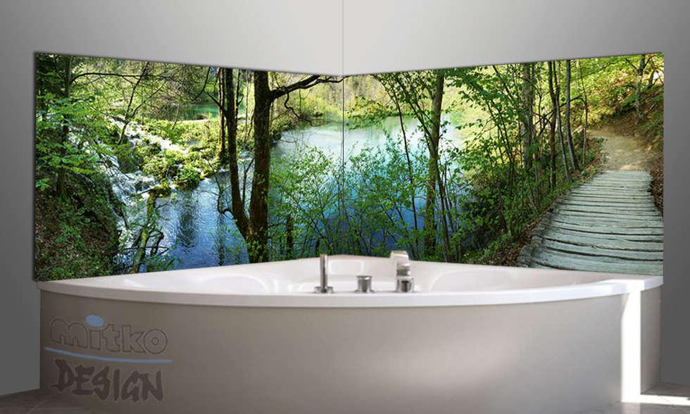 Eckbadewanne Mit Blick Auf Plitvicer See...: Moderne Badezimmer Von Mitko  Design