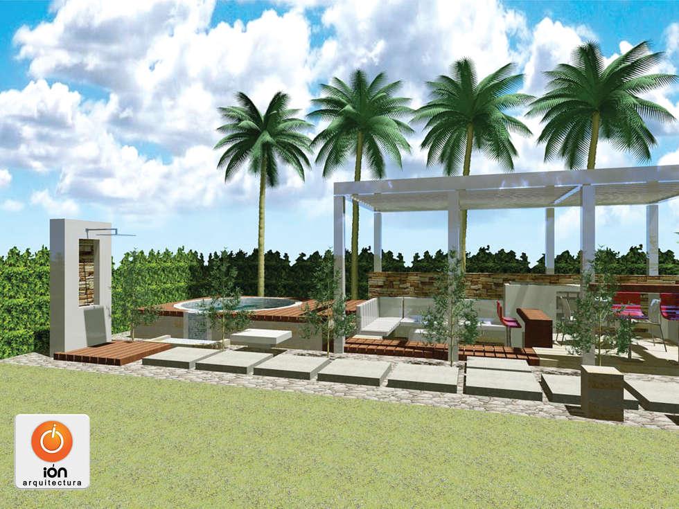 jacuzzi y lounge exterior casa ciudad jardin cali colombia piscinas de estilo