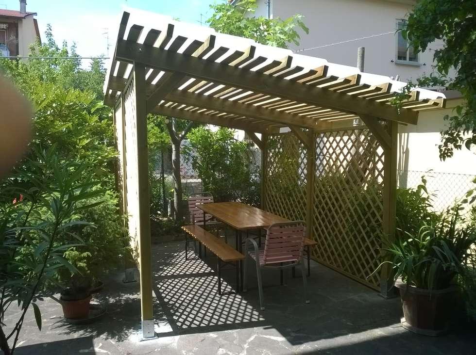 Beautiful copertura pergola giardino in coppi trasparenti - Coperture per mobili da giardino ...