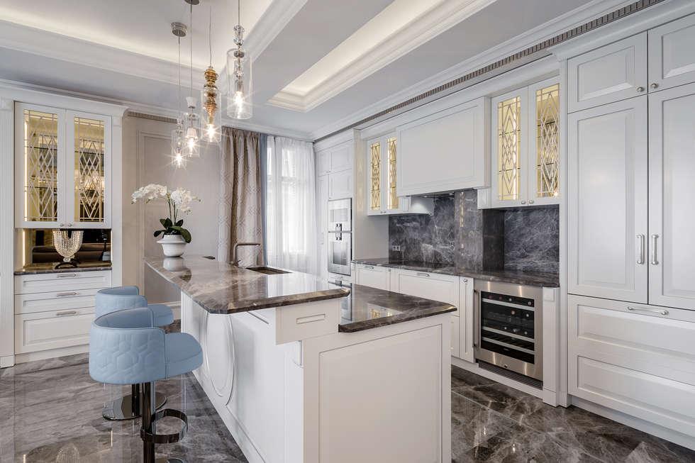 Kitchen furniture, created by NG-STUDIO.: Cucina in stile in stile Eclettico di NG-STUDIO Interior Design