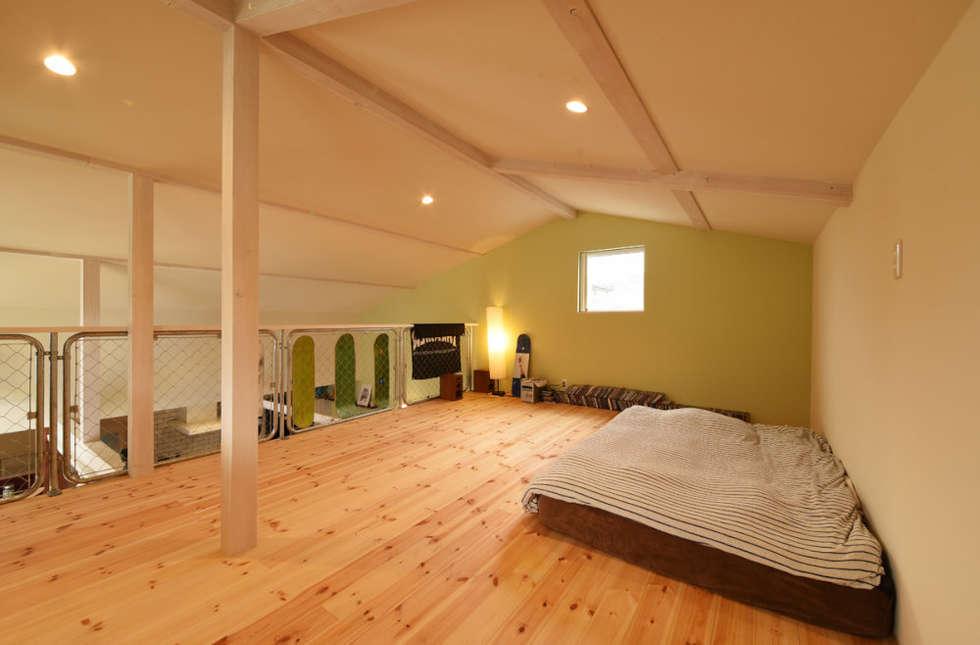 ロフト: 加藤淳一級建築士事務所が手掛けた子供部屋です。