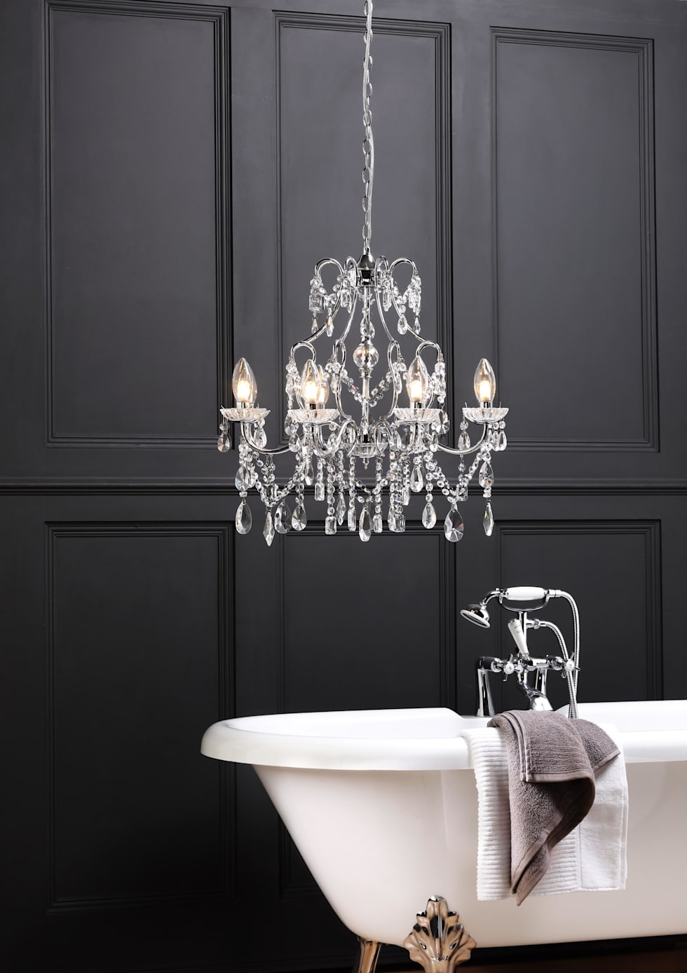 Interior Design Ideas Redecorating Remodeling Photos Homify - Chrome 5 light bathroom fixture