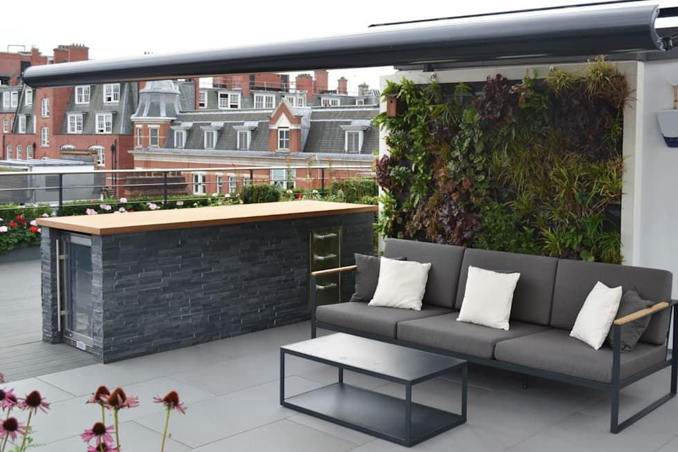 Ganton Street Roof Terrace:  Commercial Spaces by Aralia