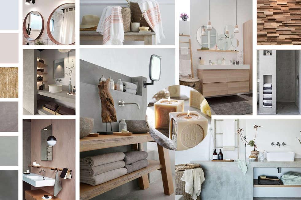 """Salle de Bain """"Nature"""" : Salle de bains de style  par Premières Perspectives"""