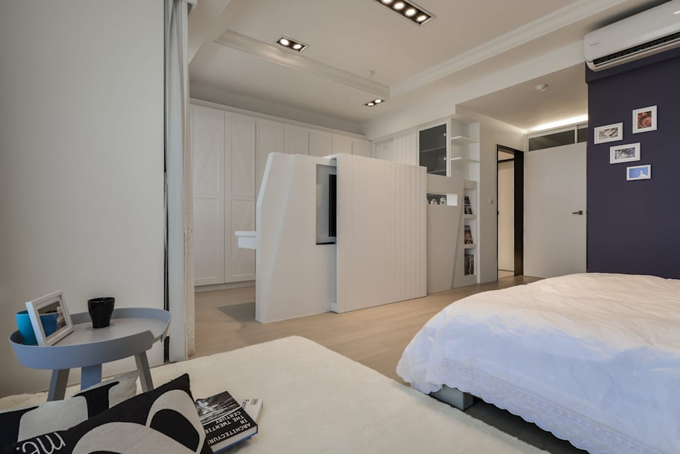 電視矮牆:  臥室 by 存果空間設計有限公司