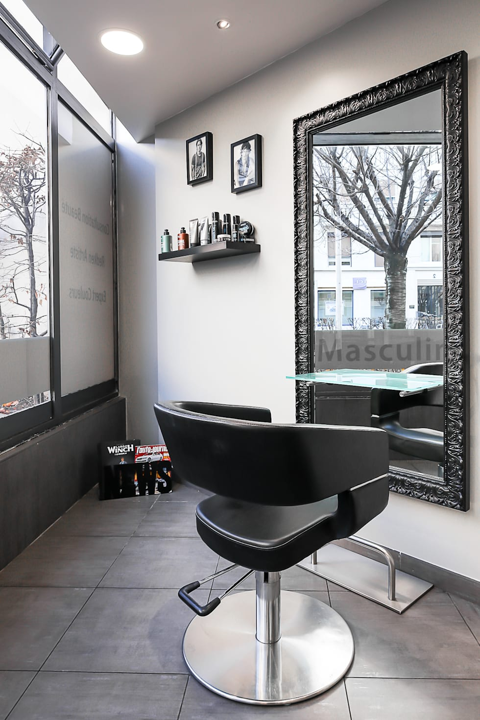 SALON HAIR CUT: Locaux commerciaux & Magasins de style  par AUDE SWEET HOME