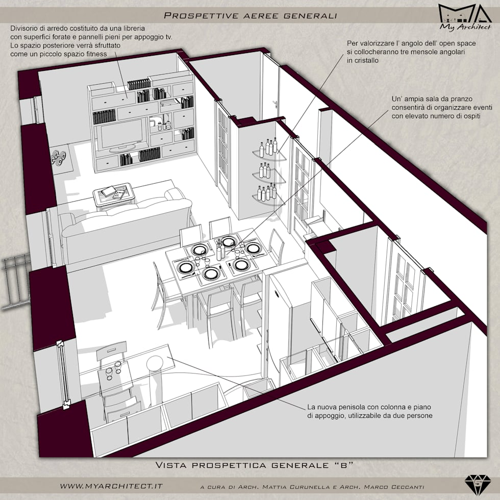 Idee arredamento casa interior design homify for Cucina con sala da pranzo