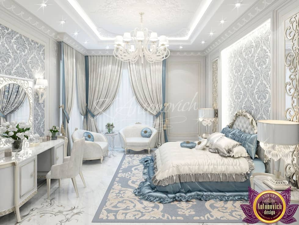 Classic bedroom by luxury antonovich design