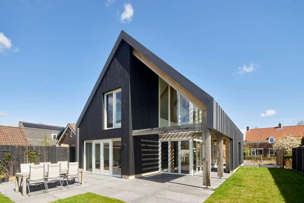 Foto s van een moderne huizen achterzijde villa homify - Exterieur ingang eigentijds huis ...