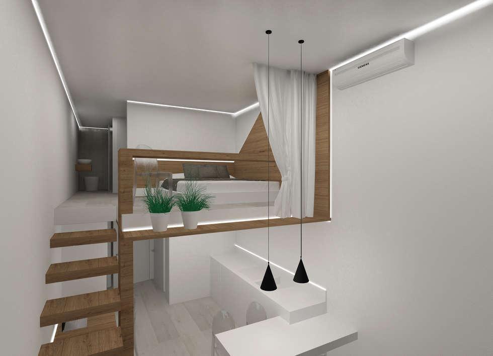 Idee arredamento casa interior design homify - Camera da letto soppalco ...