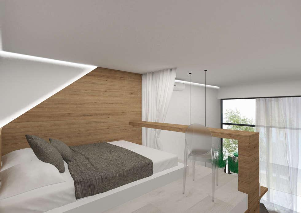 letto soppalco: Camera da letto in stile in stile Minimalista di Giemmecontract srl.