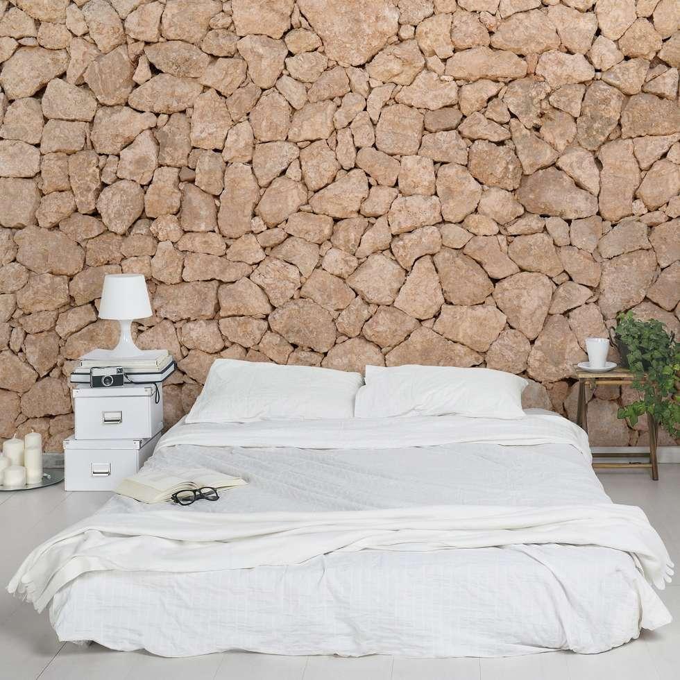 Bilderwelten Steintapete Landhaus: Landhausstil Wohnzimmer Von Bilderwelten